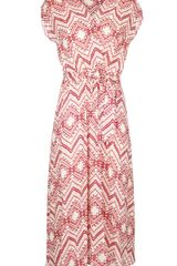 Almost Famous Aztec Print Jersey Dress - Lyst