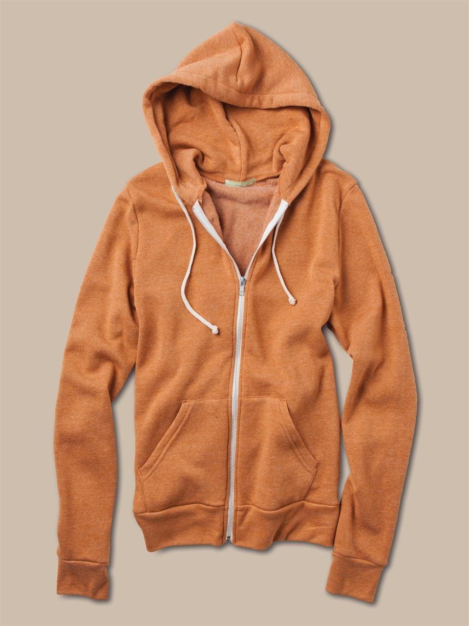 Alternative apparel Mens Rocky Zip Hoodie in Orange for Men | Lyst