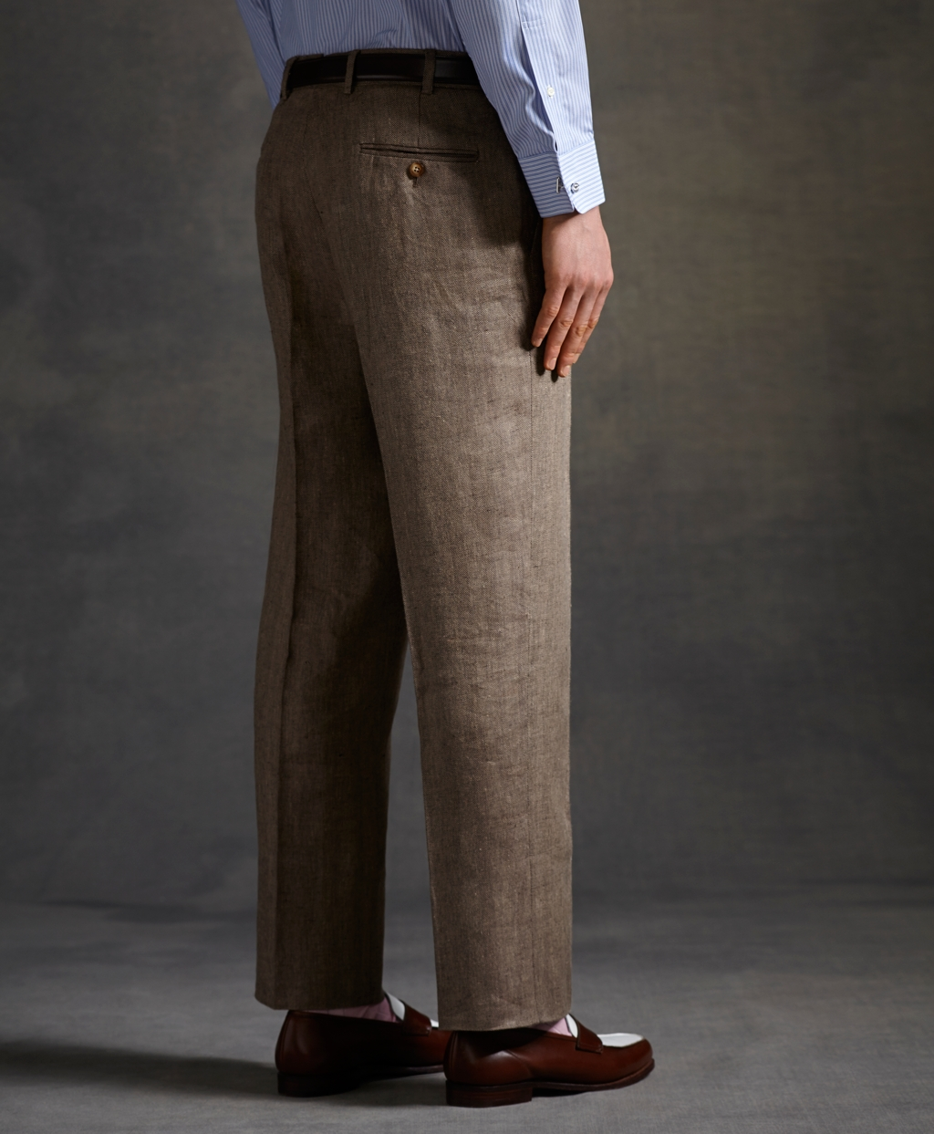 brown linen pants men - Pi Pants