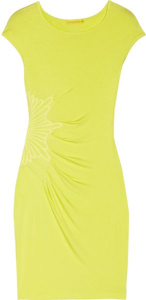Catherine Malandrino Embroidered Jersey Dress - Lyst