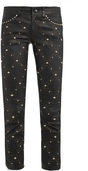 Isabel Marant Duncan Embellished Leather Trousers - Lyst