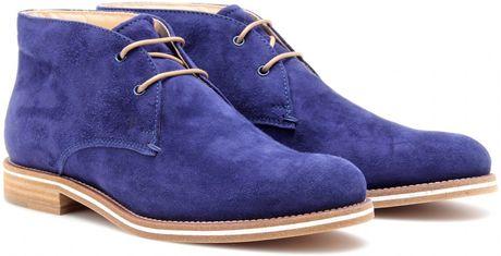 Tod's No_Code Suede Desert Boots in Blue (desert)
