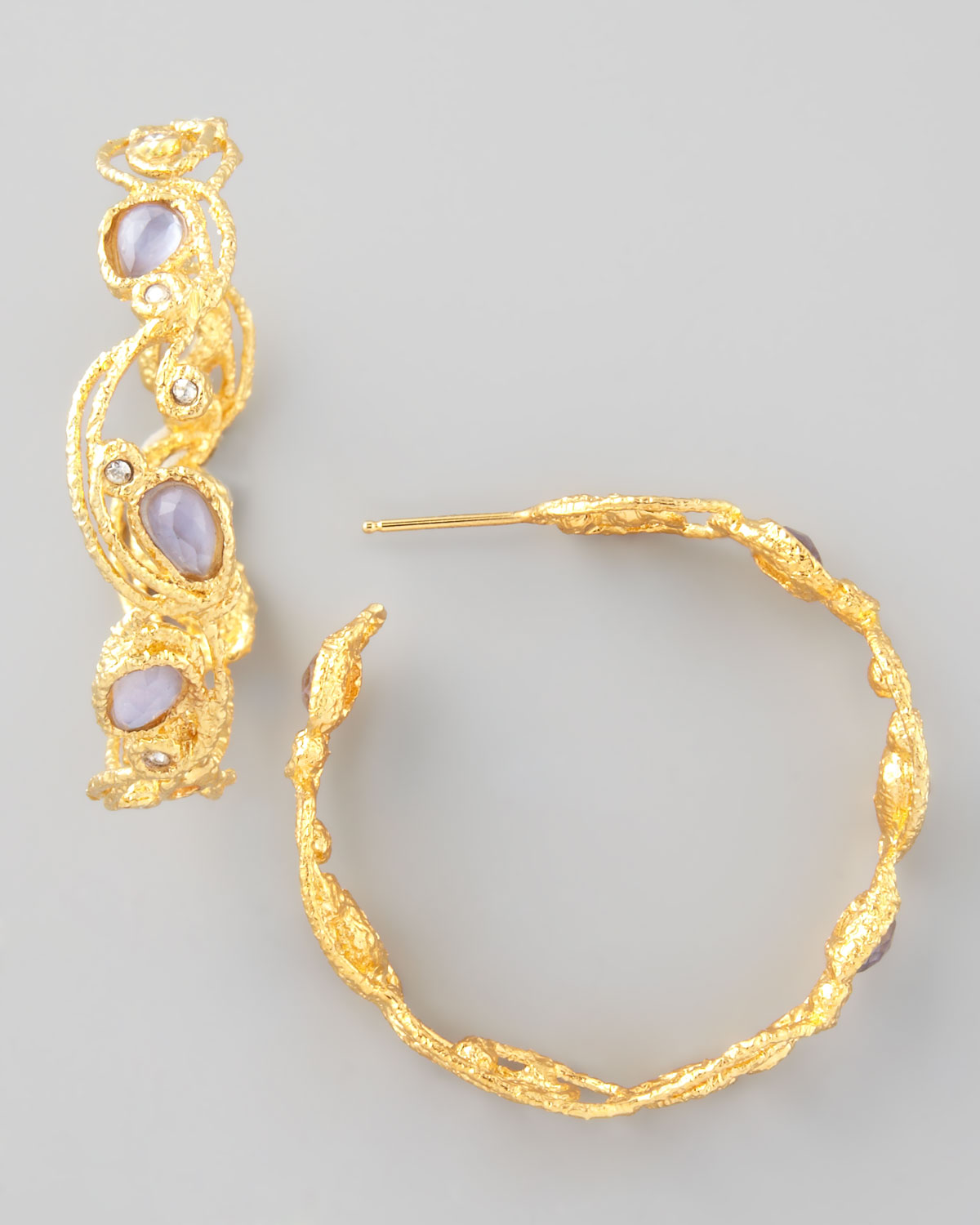 Lyst Alexis Bittar Mauritius Golden Lace Hoop Earrings
