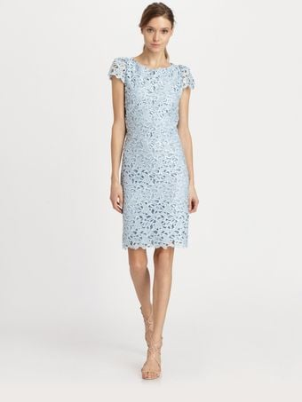 Alice + Olivia Open Back Lace Dress - Lyst
