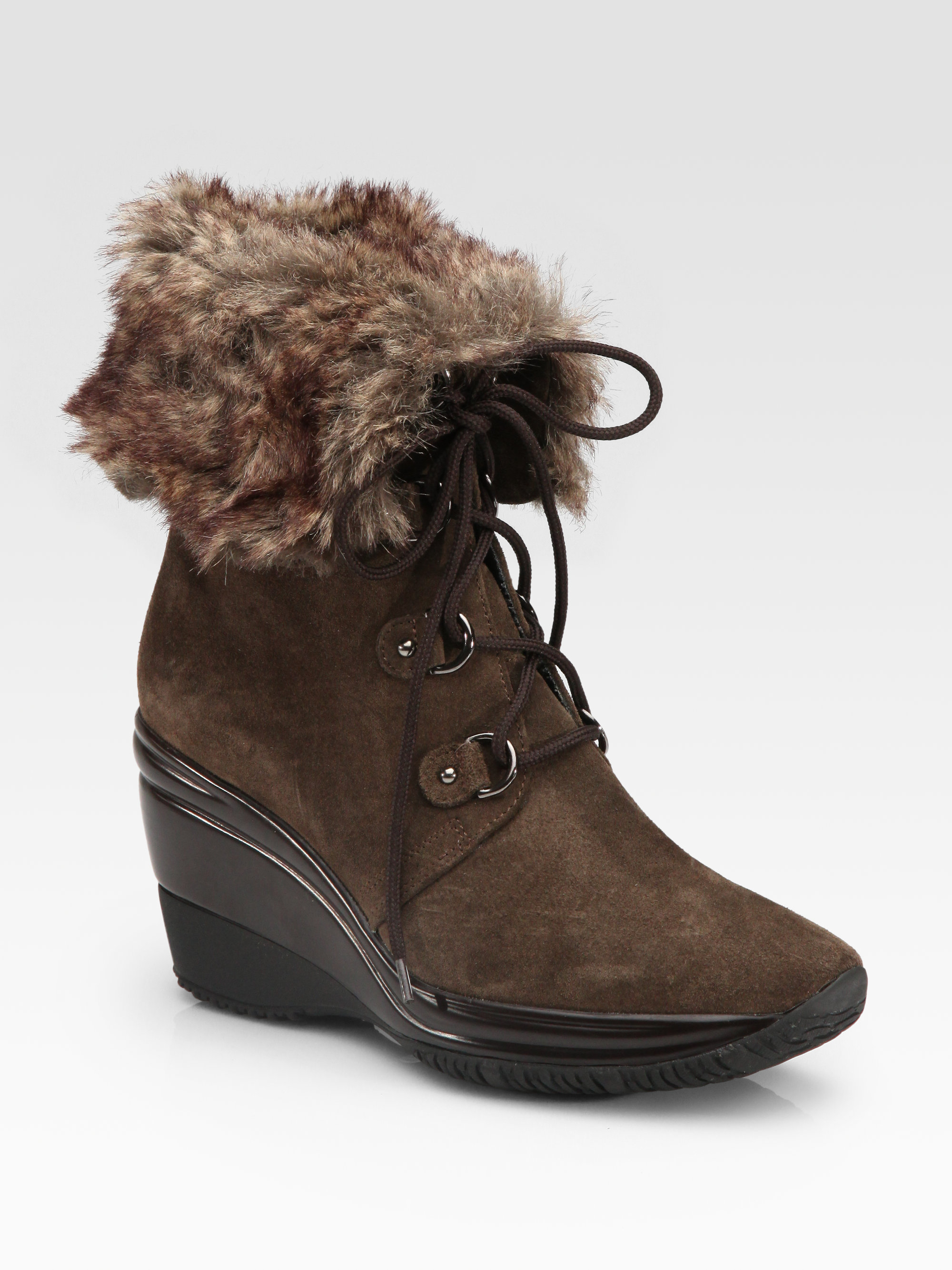 aquatalia by marvin k weatherproof suede wedge ankle boots