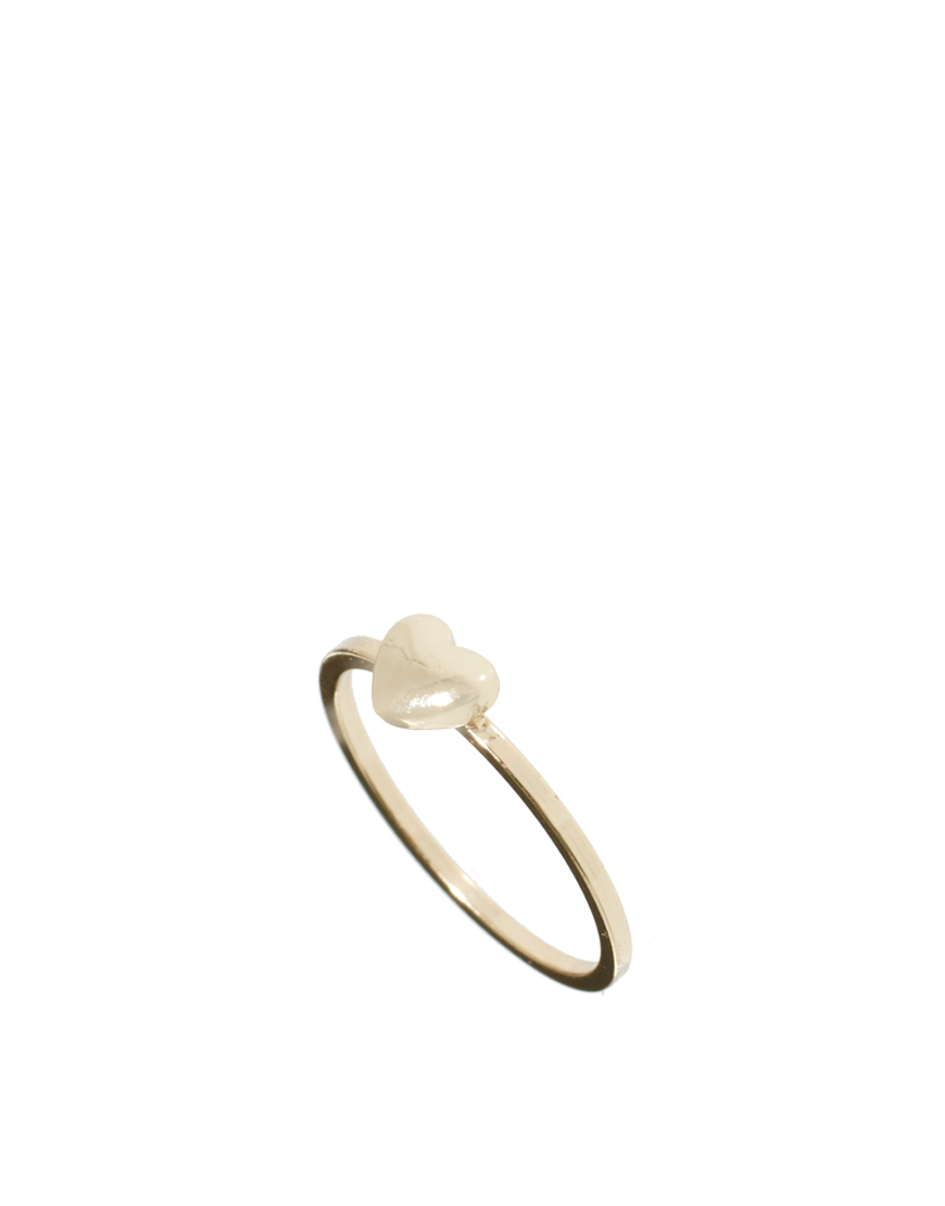 Asos Collection Asos Heart Pinky Ring in Gold