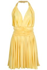 Balmain Halter Neck Dress - Lyst