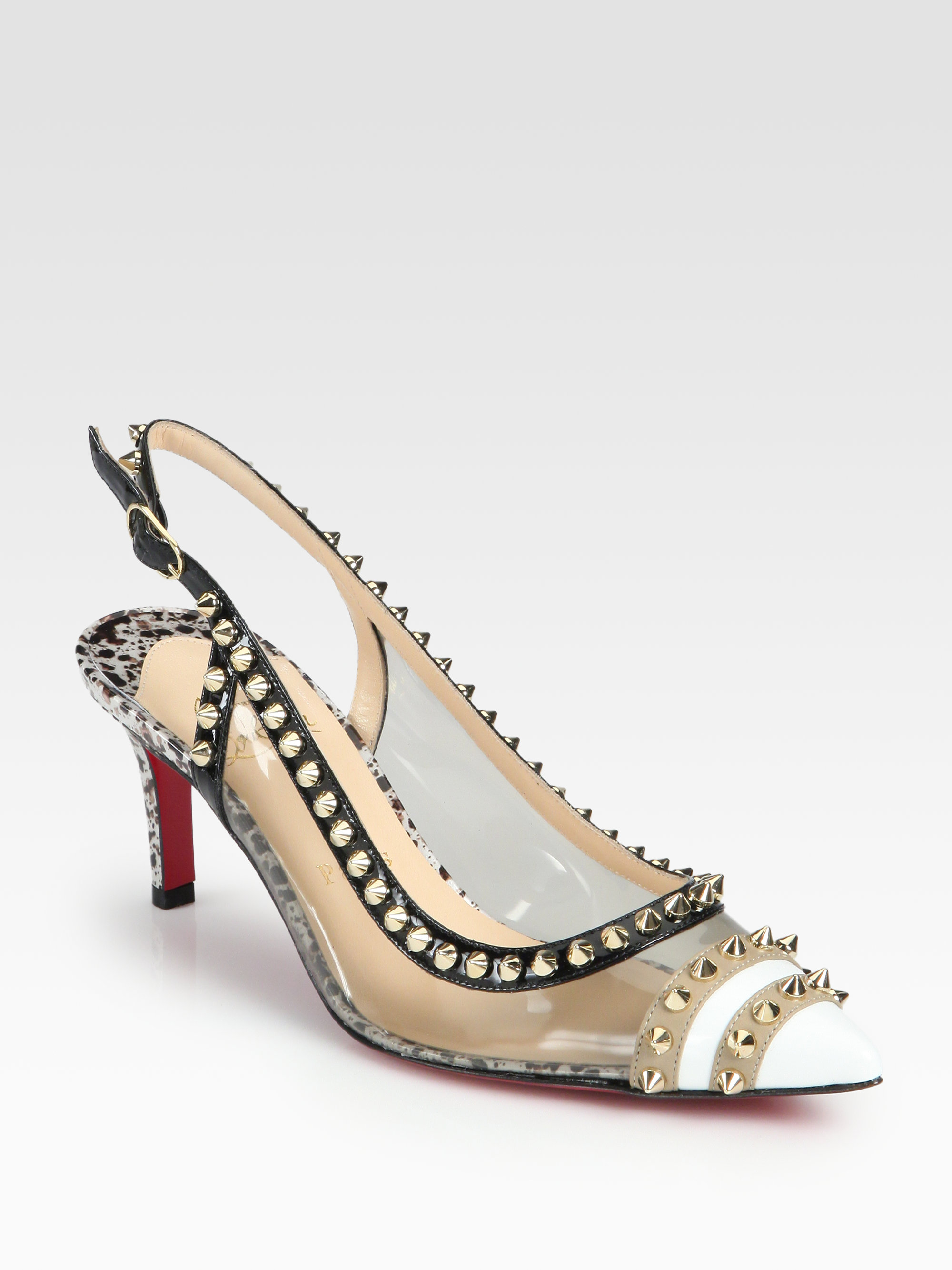 christian louboutin patent leather slingback pumps - Bbridges