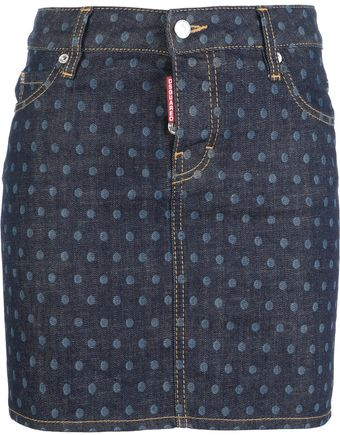 DSquared2 Polka Dot Print Skirt - Lyst