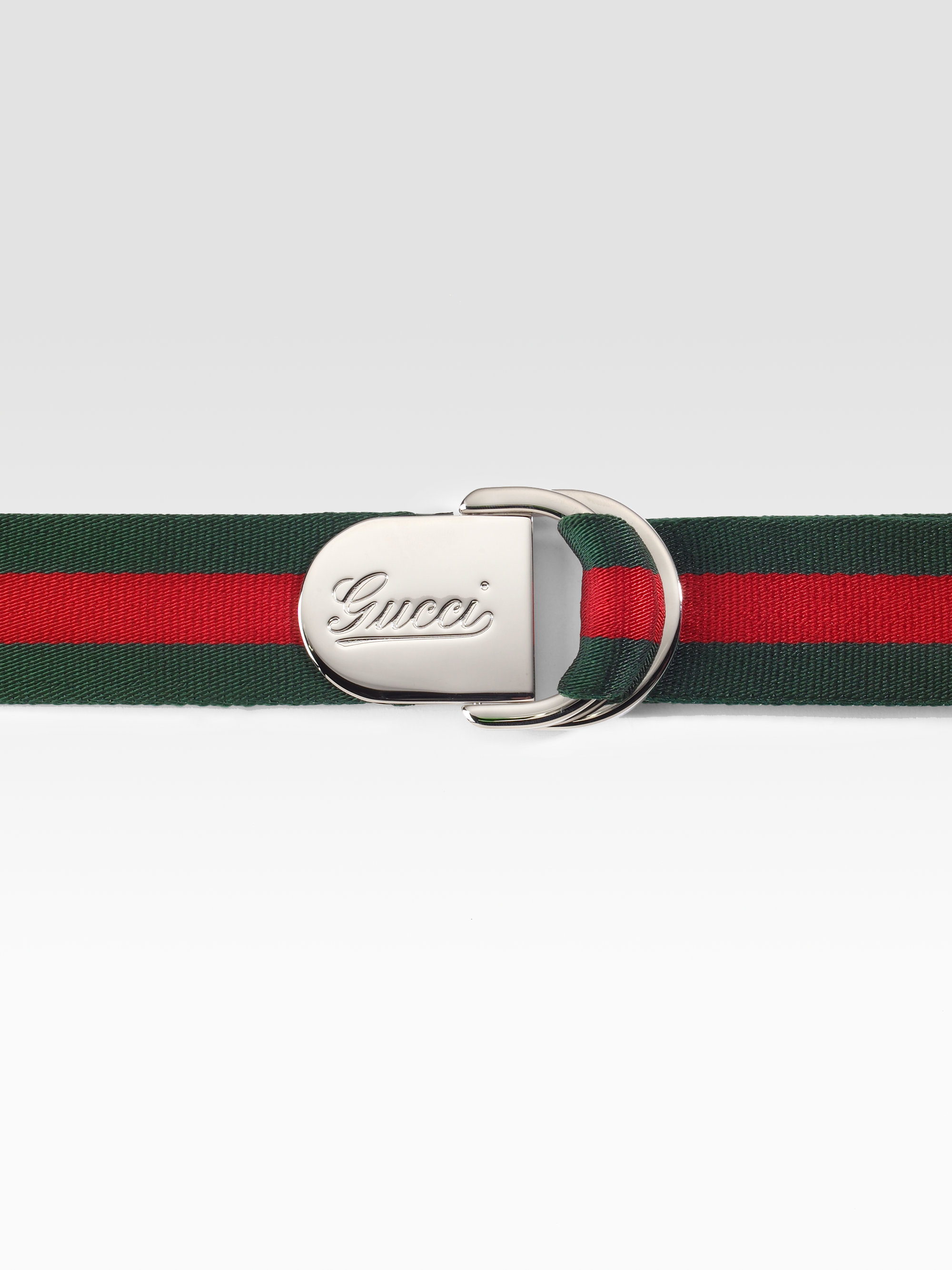74ec31e8095 Lyst - Gucci D-ring Buckle Belt in Red for Men