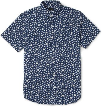 J.Crew Floral Print Cotton Short Sleeved Shirt - Lyst