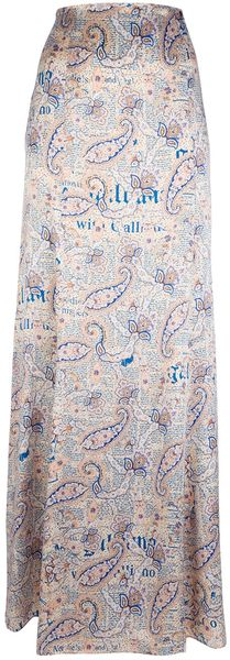 John Galliano Long Paisley Print Skirt - Lyst