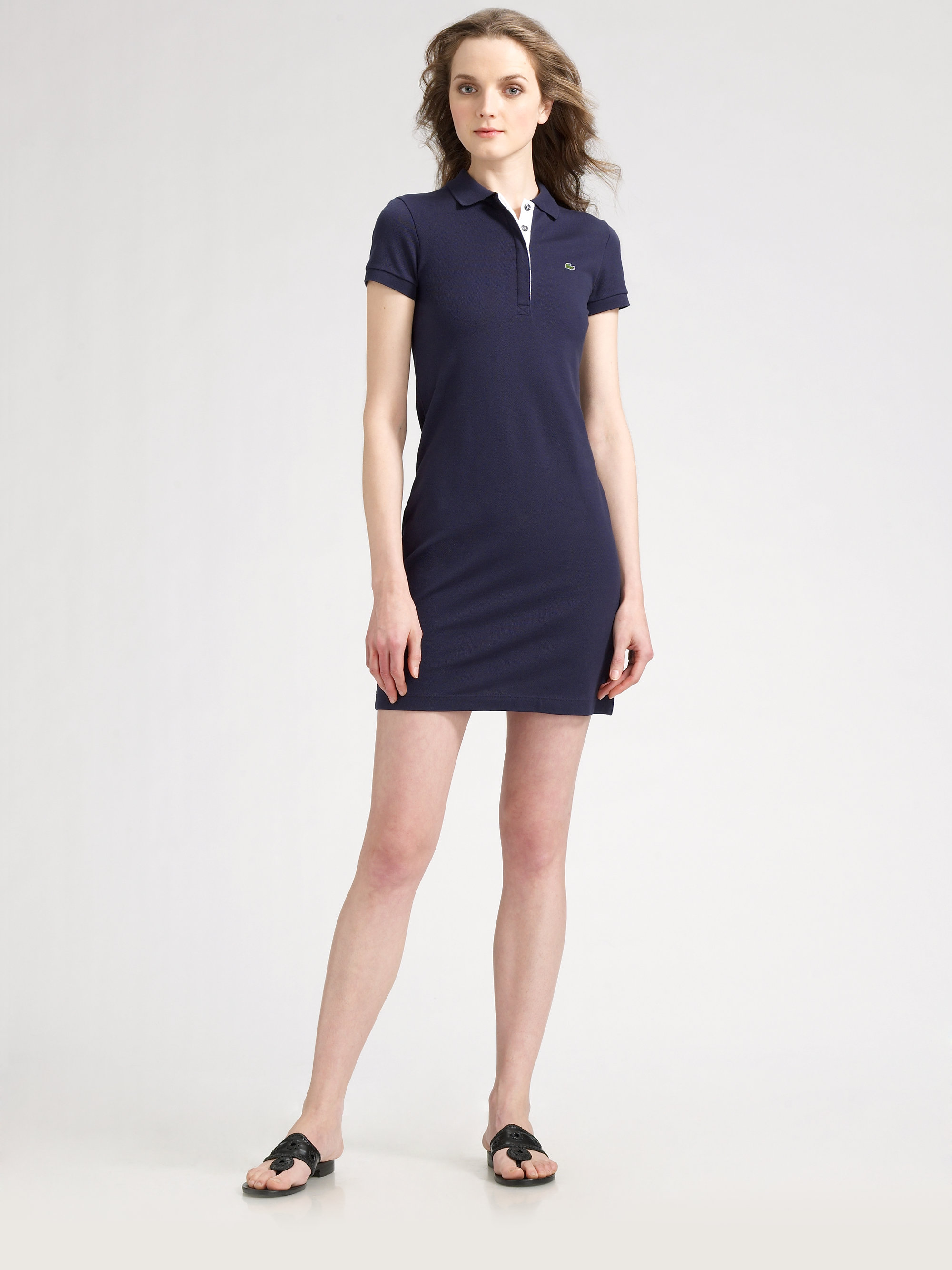 1b3101e6 Lacoste Polo Shirtdress in Blue - Lyst