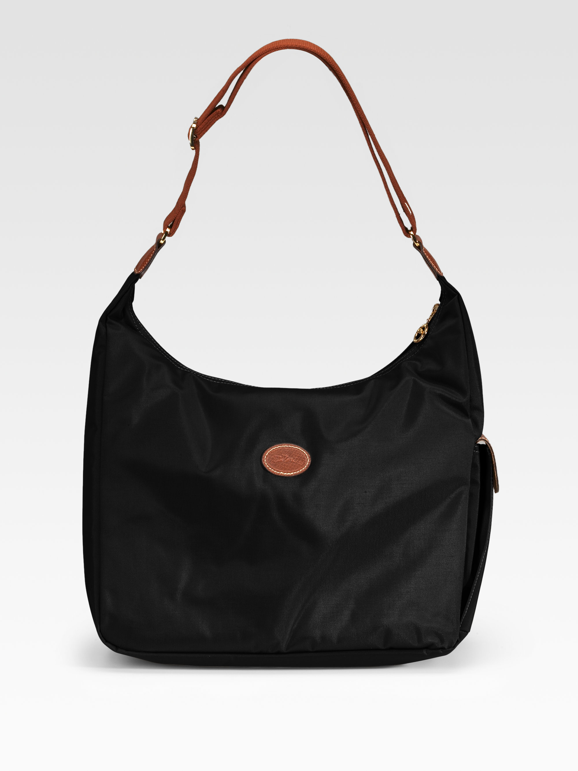 longchamp le pliage hobo bag in black lyst. Black Bedroom Furniture Sets. Home Design Ideas