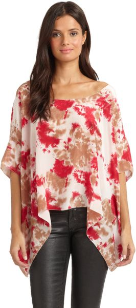 Love Sam Silk Tie-Dyed Blouse - Lyst