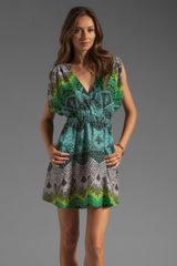 Mara Hoffman Printed Drape Sleeve Mini Dress - Lyst