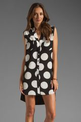 Mason by Michelle Mason Sleeveless Shift Dress in Dot - Lyst