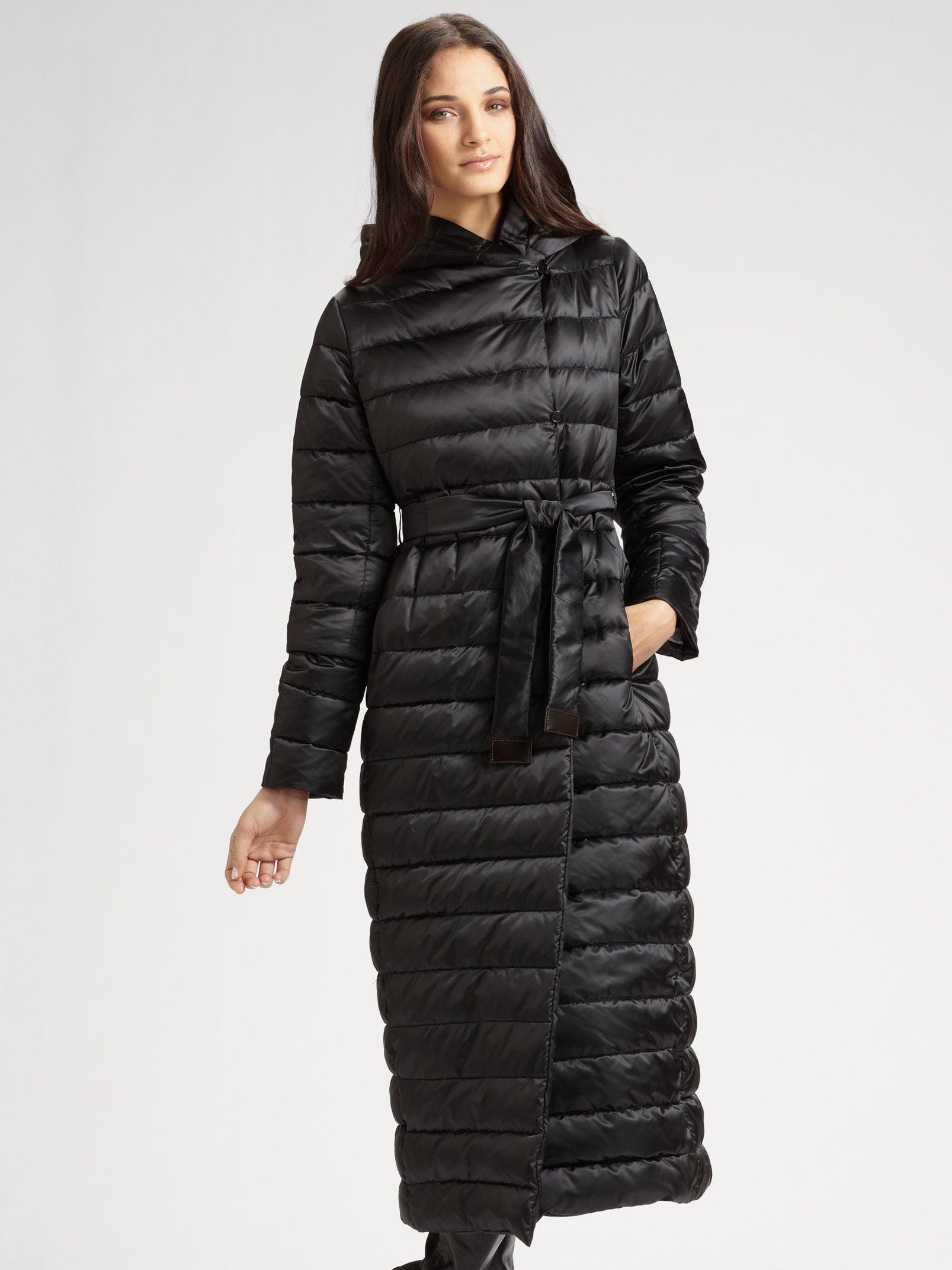 Max Mara Quilted Coat In Black Lyst