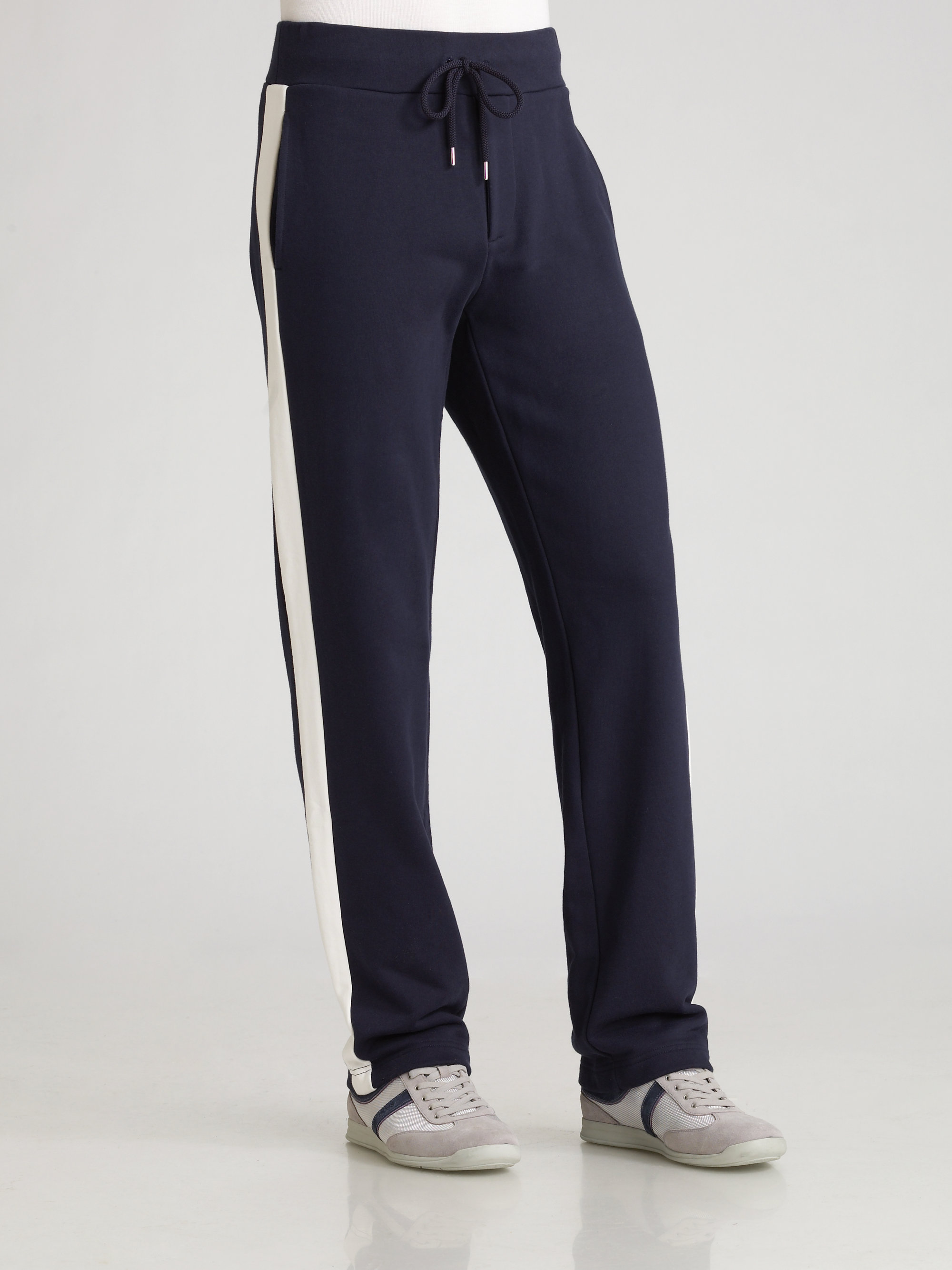 Lyst Moncler Track Pants In Blue For Men