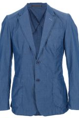 Moschino Denim Wash Blazer - Lyst