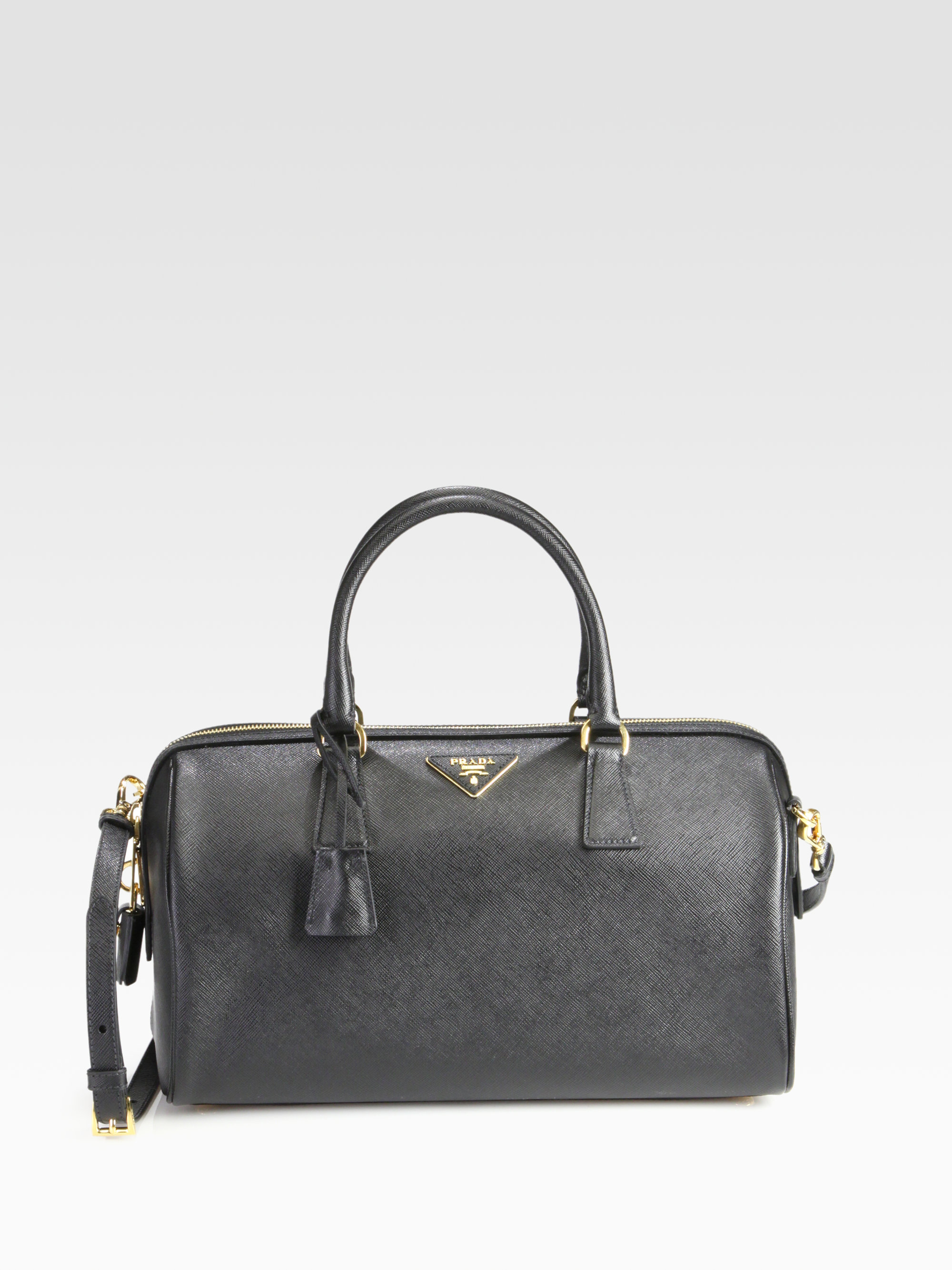 58c734e76973 ... tophandle bag in red 24662 06be9; purchase lyst prada convertible  saffiano lux boston bag in black 25186 95af8