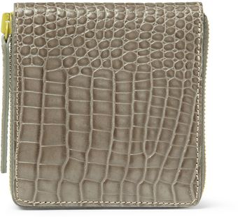 Raf Simons Crocodile Embossed Leather Billfold Wallet - Lyst