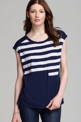 Three Dots Cap Sleeve Boxy Tee - Lyst