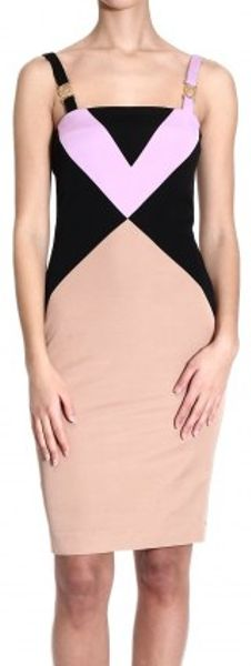 Versace Multicolor Patchwork Strap Dress - Lyst