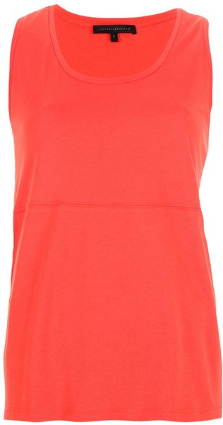 Victoria Beckham Loose Fit Vest Top - Lyst