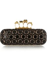 Alexander McQueen Long Knuckle Patentleather Box Clutch - Lyst