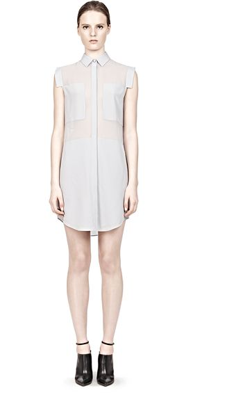 Alexander Wang Silk Chiffon and CDC Shirt-Dress - Lyst