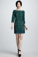 Catherine Malandrino Embroidered Silk Dress - Lyst