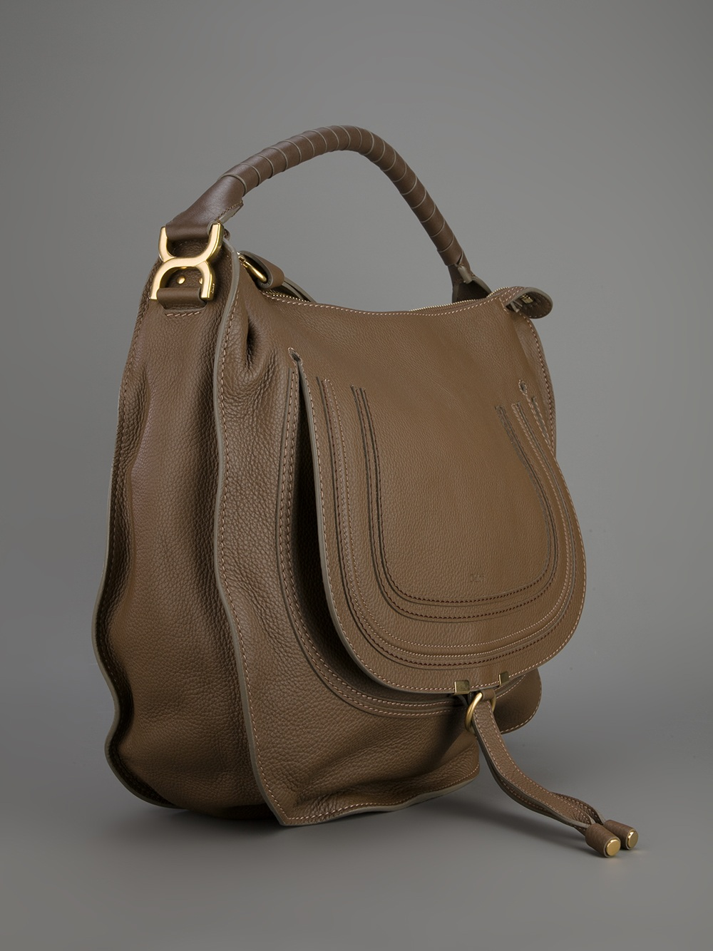 Chlo¨¦ Marcie Hobo Large Bag in Brown | Lyst