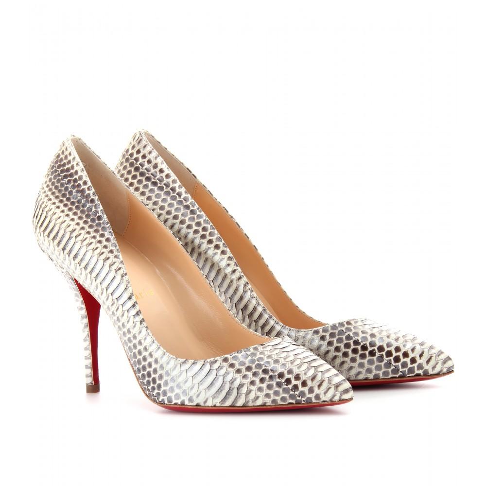 Silver Snakeskin Heels - Is Heel