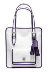 Coach Legacy Archival Two Tone Leather Magazine Tote - Lyst