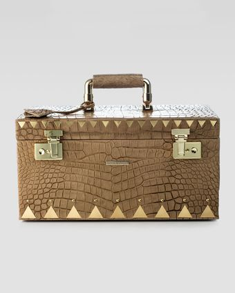 Eddie Borgo Crocodileembossed Jewelry Box Brown - Lyst