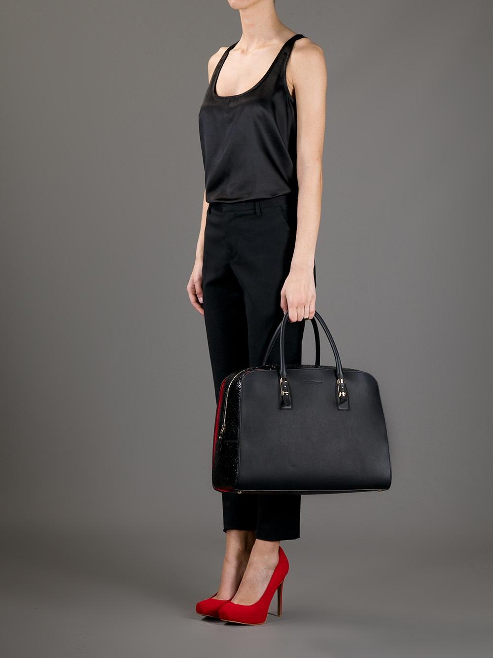 07e0ed1014f5 Lyst - Ferragamo Emmy Bag in Black