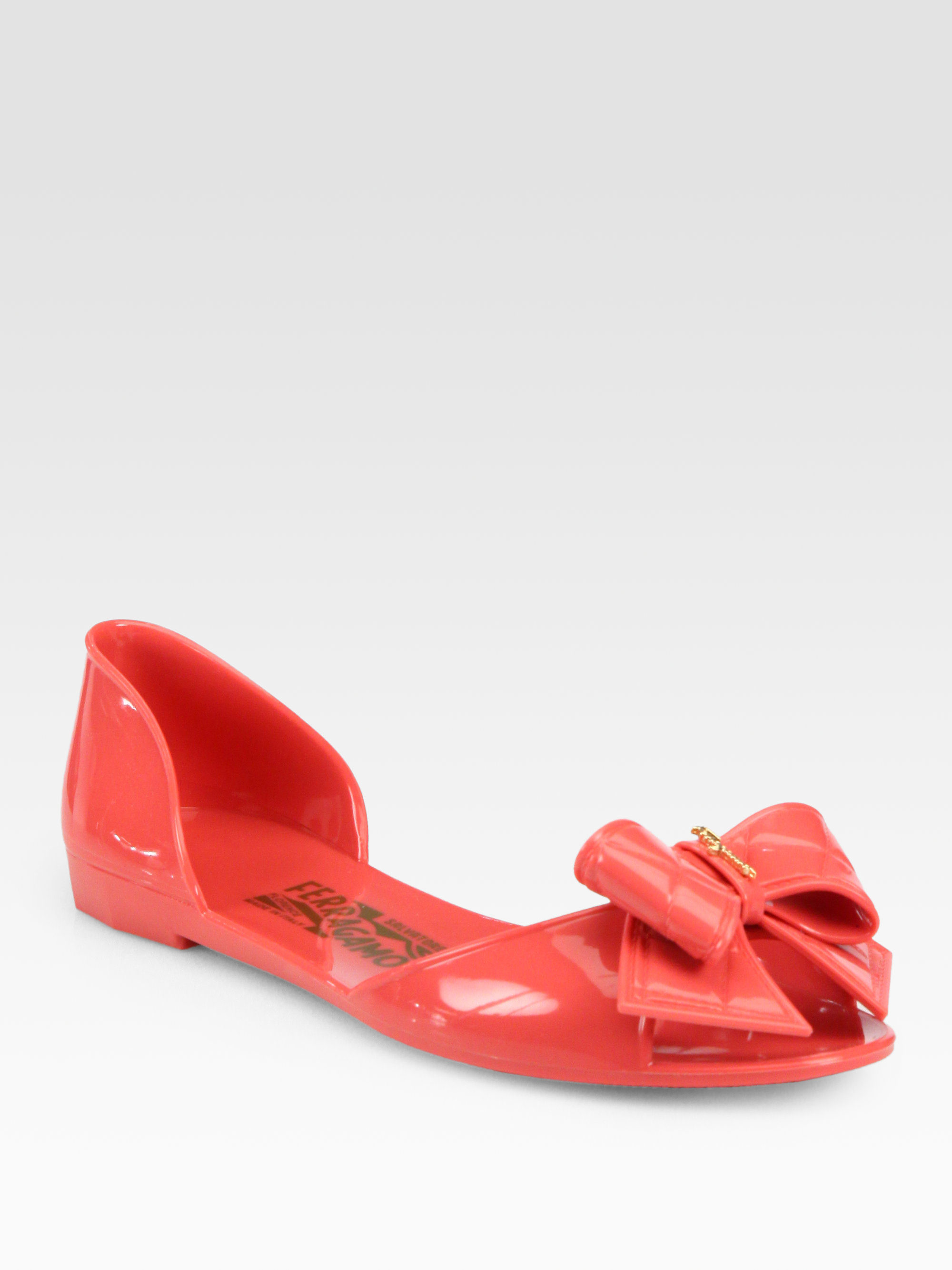 Lyst - Ferragamo Barbados Jelly Sandals In Red-4060