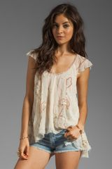 Free People Tritans Treasure Woven Top - Lyst