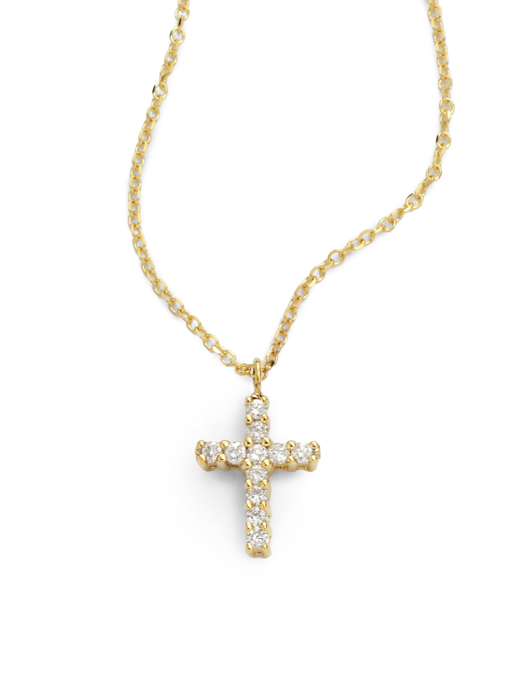 ce18b8877 Gallery. Previously sold at: Saks Fifth Avenue · Women's Diamond Cross  Necklaces