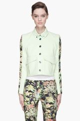 Kenzo Lime Green Cropped Formal Jacket - Lyst