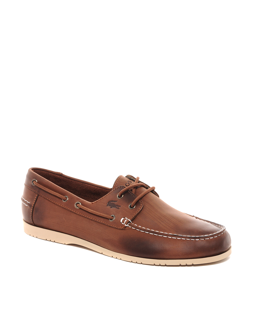 b0f36d2c763f4a Lyst - Lacoste Corbon Boat Shoes in Brown for Men