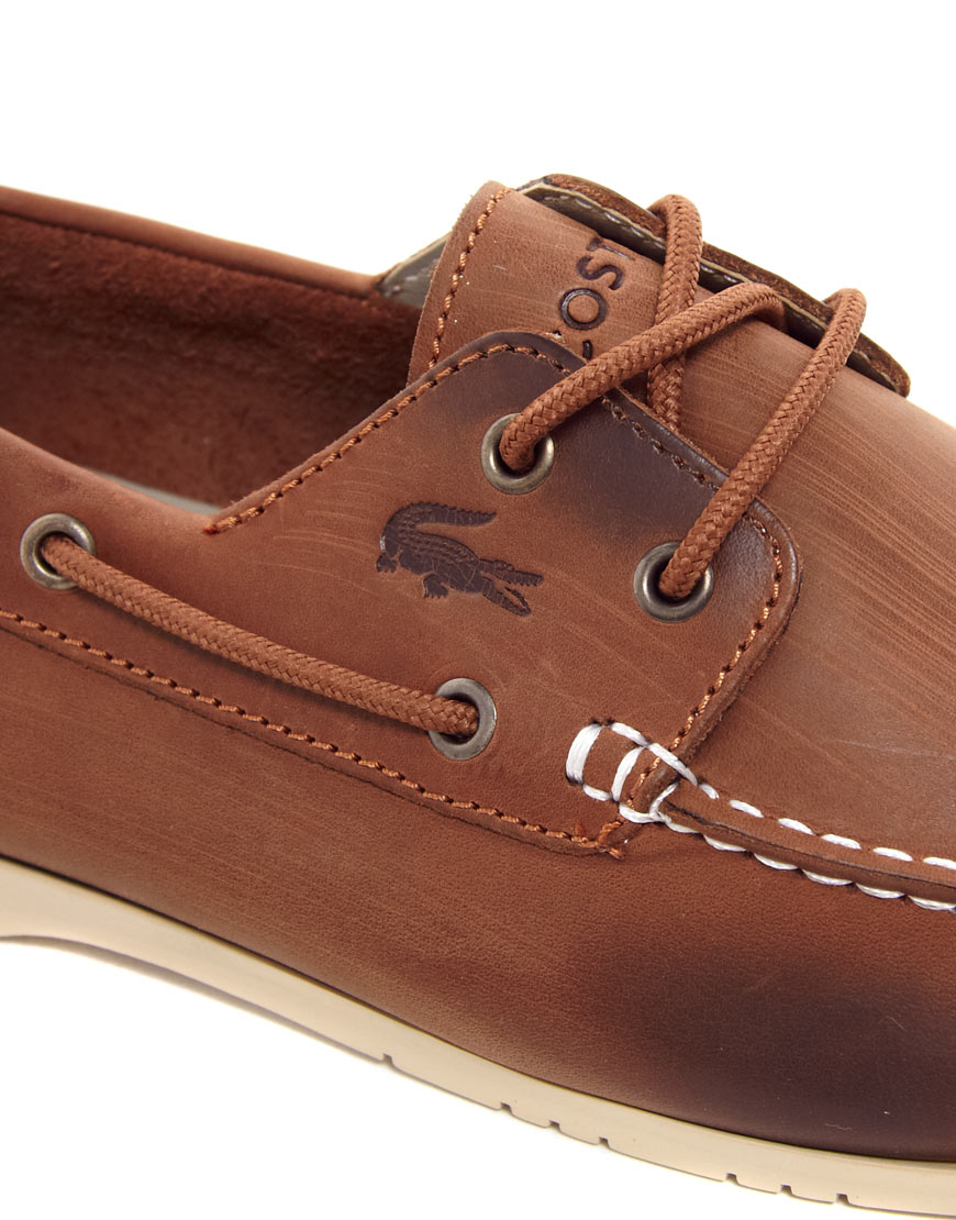 Lacoste Brown Leather Shoes