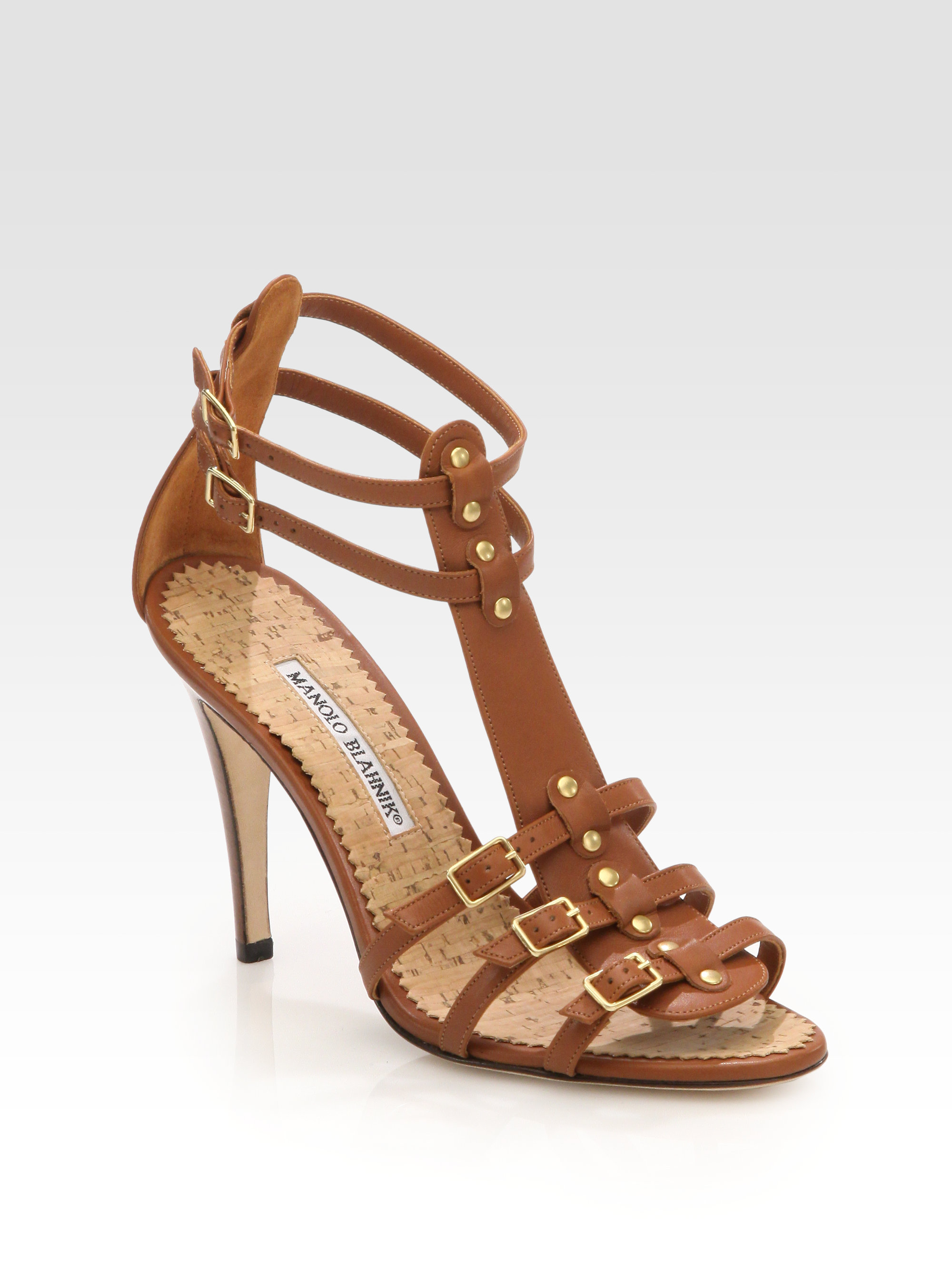 Manolo Blahnik Leather Gladiator Sandals official for sale outlet wiki professional cheap price clearance amazon finishline Z9at3UFbK