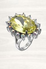 Mawi Large Yellow Daisy Gemstone Ring - Lyst