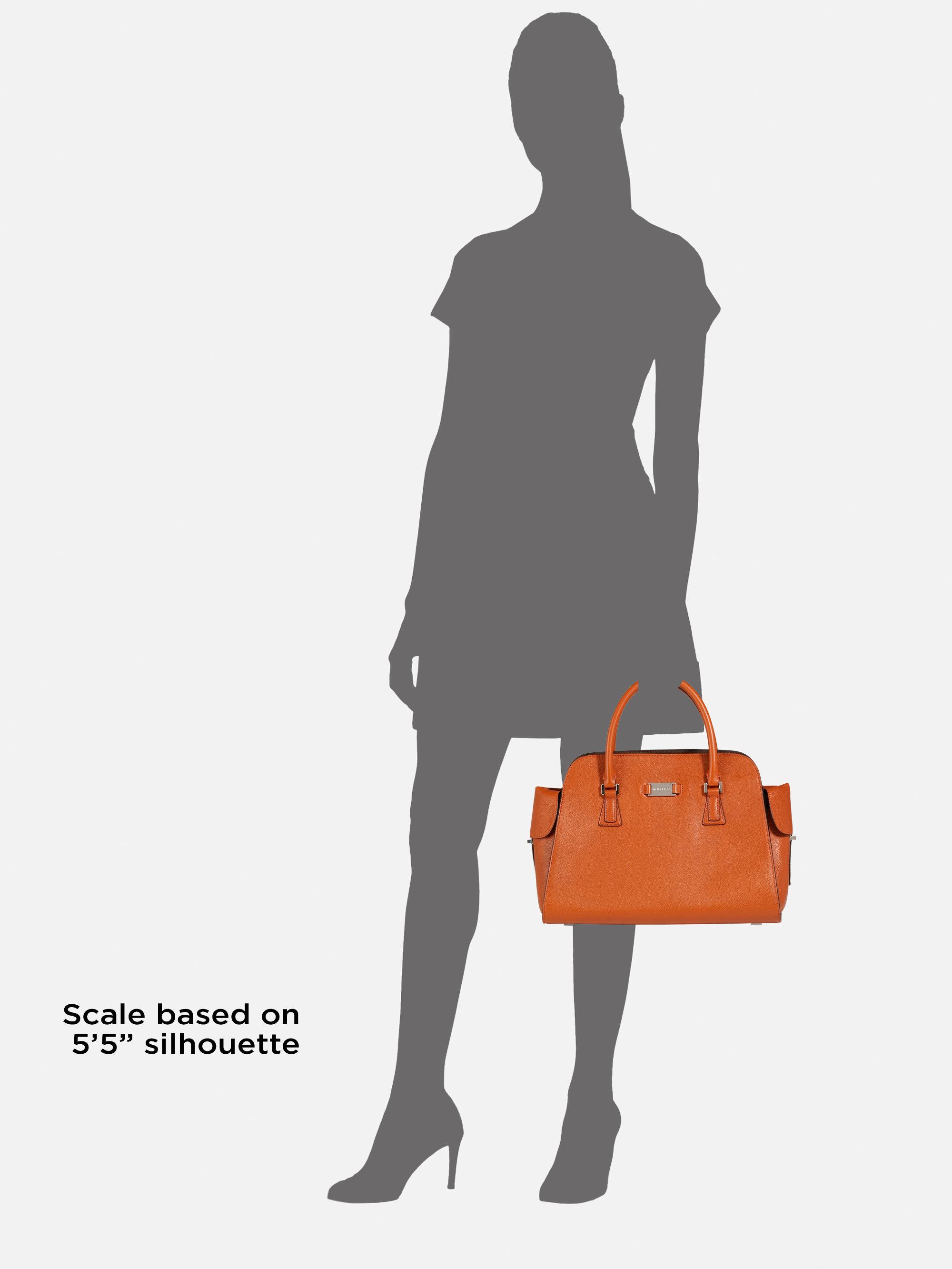 cc5173b08b681 ... new zealand lyst michael kors gia leather top handle bag in orange  5d805 5fad1
