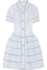 Oscar de la Renta Embellished Tweed Dress - Lyst