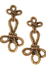Oscar de la Renta Knotted Rope Clip Earrings - Lyst