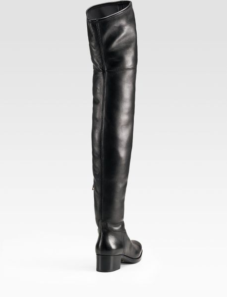 prada thigh high boots in black lyst
