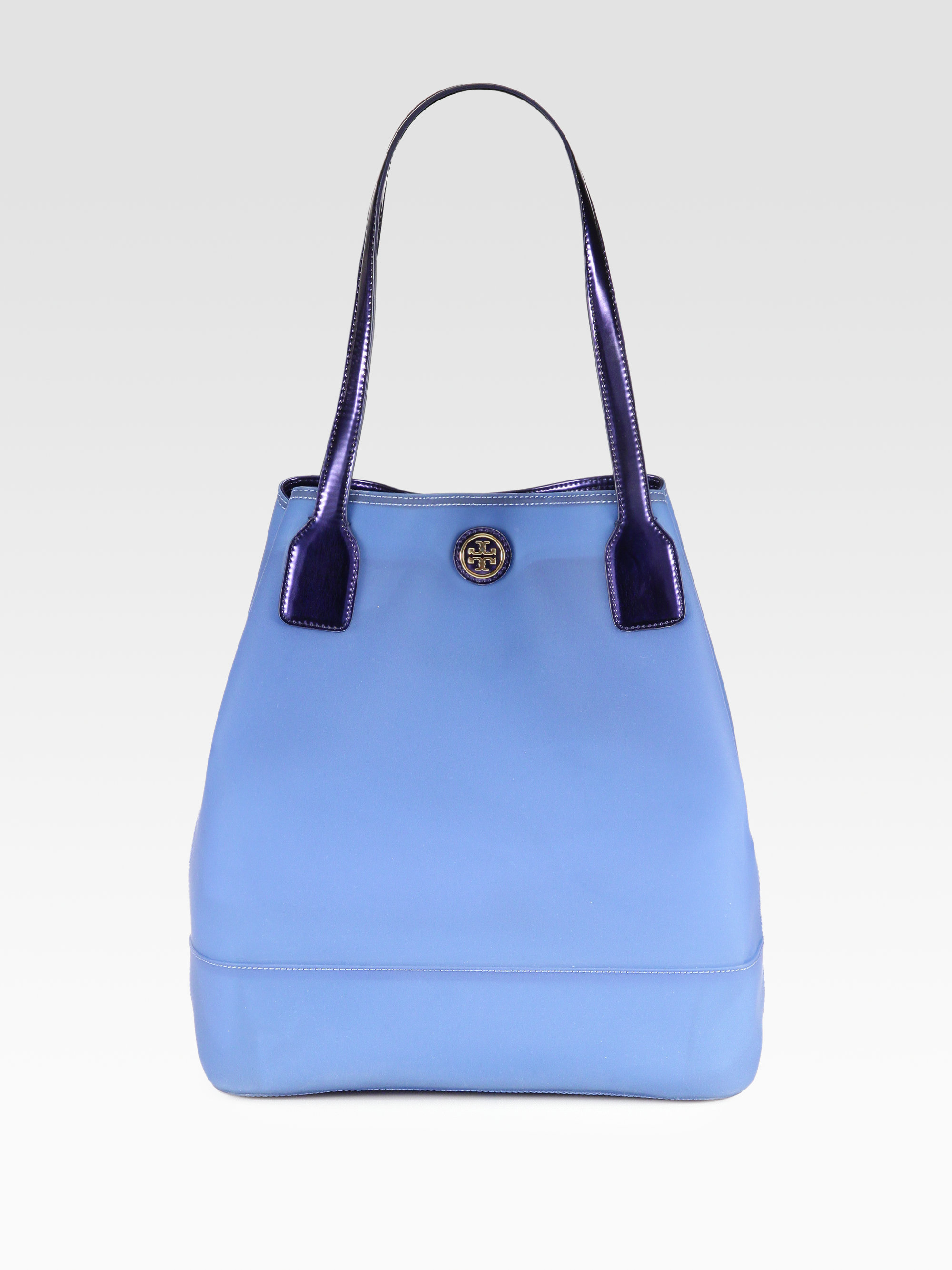 Lyst - Tory Burch Michelle Jelly Tote in Blue 6f45d8f221c23